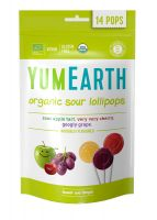 Органические леденцы на палочке. Яблоко, вишня, виноград.YumEarth. 14 штук. 85 г